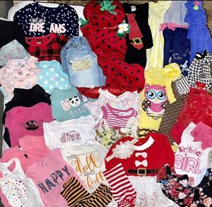 Huge 40+ Pc Baby Girl Clothing Lot 12 Months Name Brands Outfits Mixed seasons!!