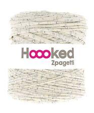 Hoooked Zpagetti T-Shirt Jersey Hilo 120m hacer Punto Lana asperjados Crema