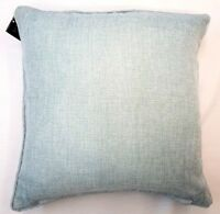 "SET OF 2 PALE  BLUE BABY BLUE SOFT WEAVE TEXTURED 18"" CUSHION COVER £11.95 SET"