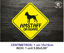 AMERICAN STANFORD AMSTAFF ON BOARD A BORDO PERRO PET DOG VINYL STICKER DECAL
