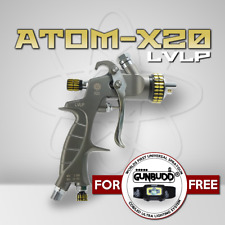 ATOM X20 Professional Spray Gun - MP LVLP Solvent/Waterborne with FREE GUNBUDD!!