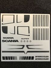 1:14 Tamiya Truck Scania vinyl Decal Sheet ANY COLOUR