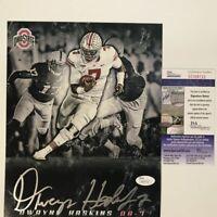 Autographed/Signed DWAYNE HASKINS Ohio State Buckeyes 8x10 Photo JSA COA Auto #2
