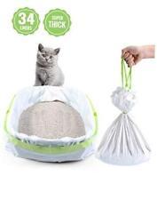 New listing Petocat Litter Box Liners, 34 Count Jumbo Cat Litter Pan liners, Drawstring Litt