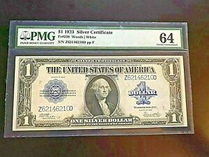 1923 Choice Unc. 64 $1 Silver Certificate (PMG Certified)