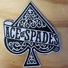 ACE OF SPADES embroidered Patch - MOTORHEAD - Iron On - FREE SHIPPING!