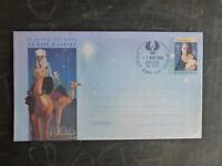 1996 AUSTRALIAN CHRISTMAS AEROGRAMME POSTMARKED AT ADELAIDE, SA FDI