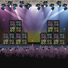 ROCK CONCERT 80s Party Decoration Wall Mural BACKDROP Prop ROCK CONCERT SCENE