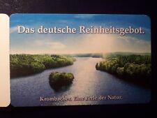 Portocard individuell Reinheitsgebot für Bier / Krombacher / 0,70 € / 1 Heft