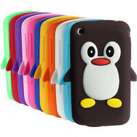 Apple Iphone 3G / 3GS Cute Penguin Silicone Soft Phone Case Cover
