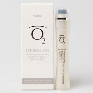 Mistine O2 EYE Roll on Massage Roller Anti-puffiness Anti-aging Brightening 9ml