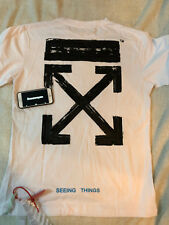 Off White c/o Virgil Abloh 3D Painting arrow Tshirt White Size US Medium