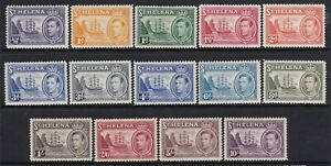 ST HELENA 1938 KGVI DEFINITIVE SET LIGHTLY HINGED MINT  (SOME GUM TONING)