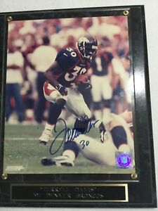 Terrell Davis 30 autograph picture mounted