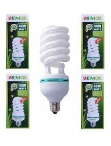 5x SEMCO 40W E27(SCREW CAP) ENERGY SAVER Bulb 160V-250V.cool Daylight