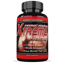 Nitric Oxide Xtreme 5000 Extreme L Arginine Increase Muscle Strength Pump Boost