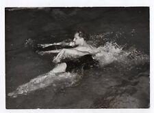 PHOTO ANCIENNE Nageur Piscine Danse aquatique Brasse Nage Vers 1950 1960 Eau