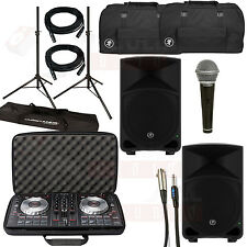 Pioneer DDJ-SB2 DJ Controller + Mackie Thump15 Speakers + Bags + Cables + Stands