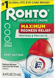 2xROHTO COOLING LUBRICANT EYE DROPS MAX STRENGTH REDNESS RELIEF **SPECIAL**