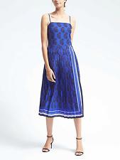 BANANA REPUBLIC WOMEN'S  590166 PAISLEY PLEATED DRESS r0238 $148.00 NWT 2