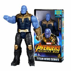 "12"" Marvel Avengers Infinity War Titan Serie Thanos Figure Kid Toy Birthday Gift"