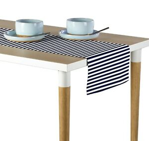 """Small Stripes Navy Blue Runners - 12""""x72"""" or 14""""x108"""""""
