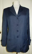 Vintage Women's Burberry Linen Jacket Blue Summer Blazer Pristine Condition