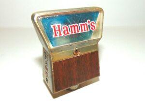 Vintage Hamm's Beer Tapper Handle-Brass-Compact-Engraved Logo design-rare