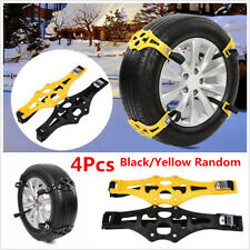 4Pcs PTU Car Snow Tire Anti-skid Chains Belt Winter Wheel Safety Antiskid Chains