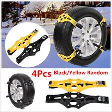 4Pcs PTU Car Snow Tire Anti-skid Chains Belt Winter Wheel Safety Antiskid Chains