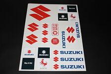 +173 Suzuki S GSXR Susi Motorrad Aufkleber Sticker Kleber Logo Autocollant Bogen