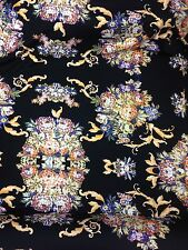 Designer Stretch Jersey Print Floral Multicolour Wedding Light