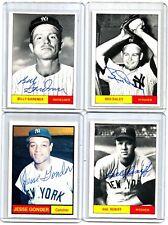 1961 renata GALASSO auto SIGNED bud DALEY set/card #14 ny YANKEES baseball TEAM