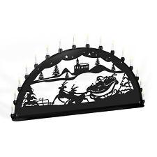 Light Arch Santa Claus Reindeer Metal XL Outdoor Area Black