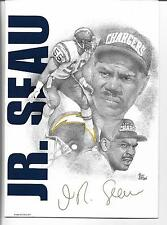 1996 DOTSON COLLECTIBLE GREETING CARD~JR. SEAU LINEBACKER SAN DIEGO CHARGERS