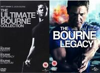 THE BOURNE - Collection Quadrilogy Identity, Supremacy, Ultimatum NEW UK R2 DVD