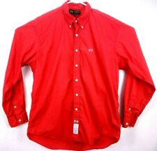 La Martina Polo Men's Shirt XL Long Sleeve Button Down Red Solid Buenos Aires