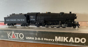 N-Scale - KATO 2-8-2 HEAVY MIKADO SP w DCC - runs poorly -  needs better pick up