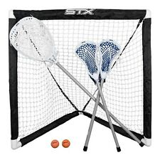 Kids Youth Mini Lacrosse Goal Set 6pc Net Sticks Balls 3 Players Ages 3-16 New