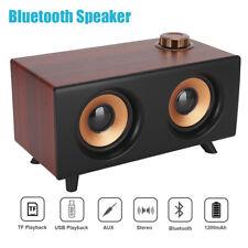 FT-3008 Portable Bluetooth Speaker Wooden Wireless Loudspeaker Music Player