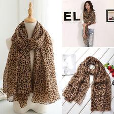 Hot Fashion Girl's Women Long Style Wrap Shawl Leopard Chiffon Scarves Stole New