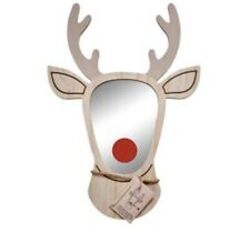 Stag mirror (with red nose) - Perfect for Christmas!
