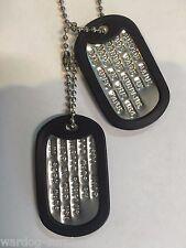 MILITARY CUSTOM DOG TAGS BALL CHAIN & SILENCERS OFFICIAL GI ARMY USMC MATTE