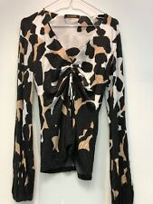 ROBERTO CAVALI WOMAN SHIRT; 100% AUTHENTIC ; Tiger Print SIZE 42; MADE IN ITALY
