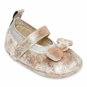 NWT Okie Dokie Metallic Taupe Baby Mary Jane Shoes