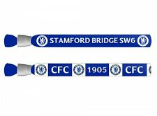 Fan Apparel & Souvenirs Collection Here Chelsea Stamford Bridge Sw6 Cfc Festival Wristbands Two Pack Blue