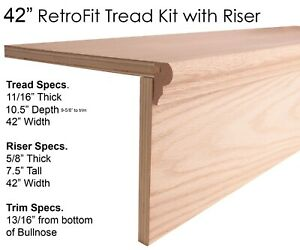 RetroFit Stair Tread Kits for Removing Carpet & Adding Wood Tread to your Stairs