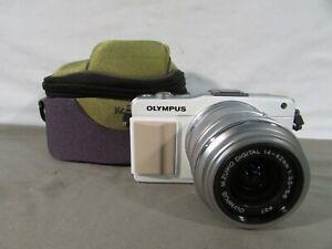 Olympus Pen Mini White E-PM2 Digital Camera