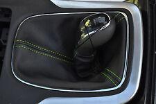 Verde Stitch se adapta a Opel Opel Astra J Mk6 2009 + Cuero Gear Polaina