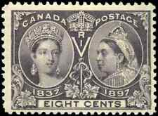 Canada #56 mint F-VF OG NH 1897 Queen Victoria 8c dark violet Diamond Jubilee